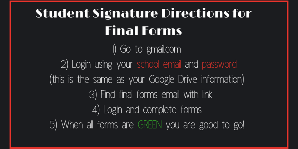 Final Forms Student Directions