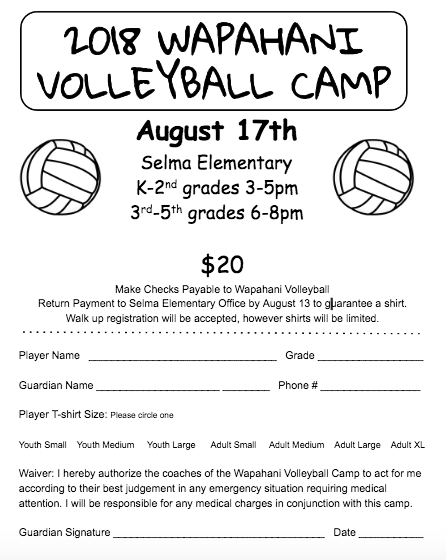 Wapahani Volleyball Camp