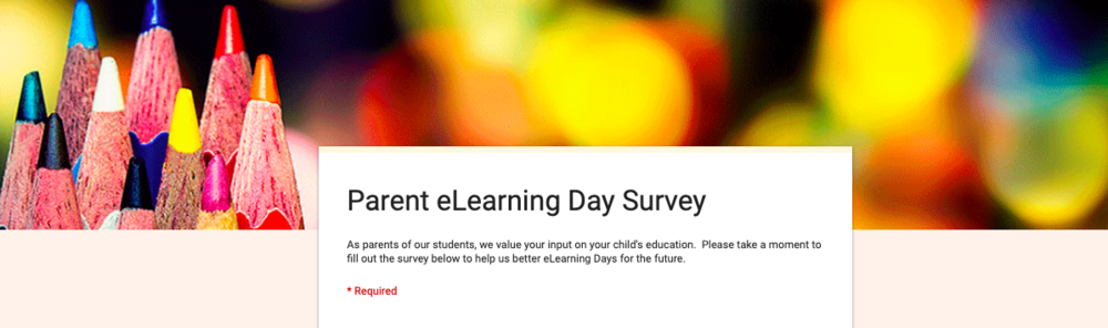 Parent eLearning Survey