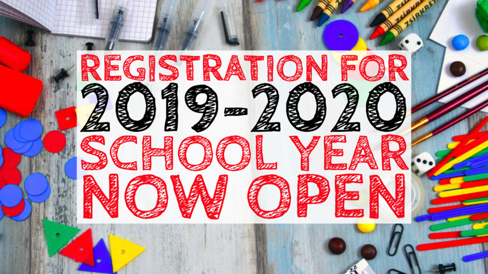Registration for '19-20 on Final Forms