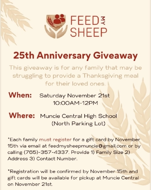 Feed My Sheep - Thanksgiving Assistance
