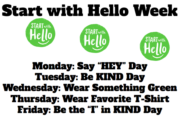 WHS Start with Hello Week