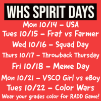 WHS Spirit Days